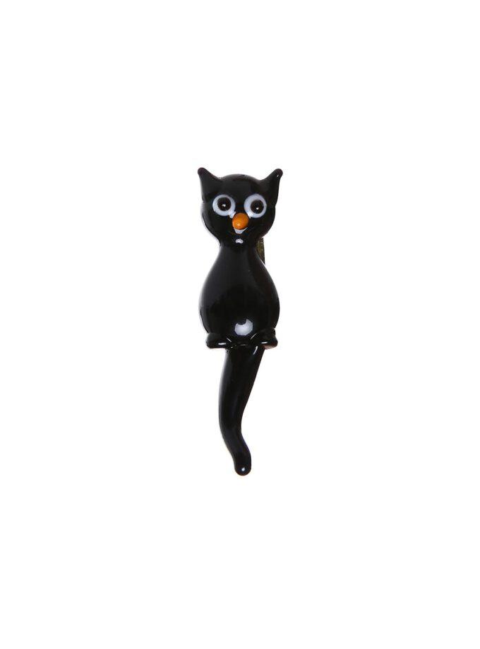 Siyah Kedi Broş